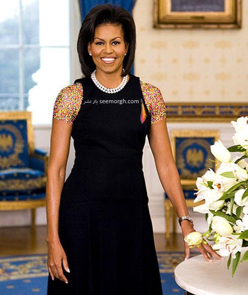 لباس طراحی شده مایکل کورس برای میشل اوباما