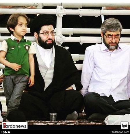 عکس: فرزند، داماد و نوه رهبر معظم انقلاب