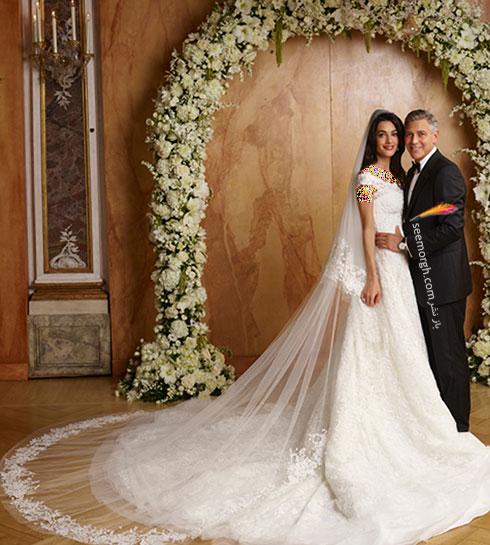 لباس عروس آمل کلونی Amal Clooney,8 لباس عروس برتر ستارگان هالیوودی در دنیای مد