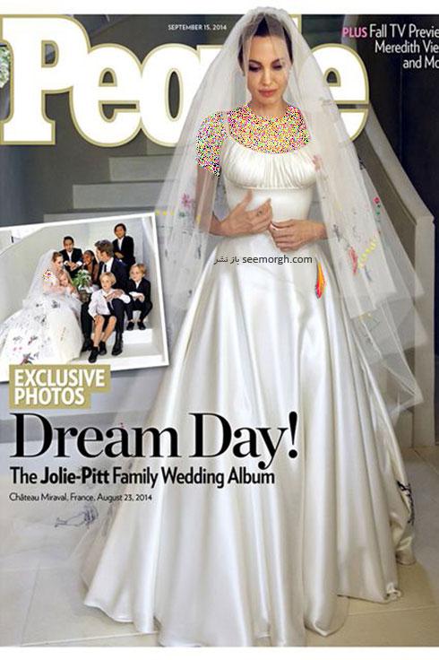 لباس عروس انجلینا جولی Anjelina Jolie,8 لباس عروس برتر ستارگان هالیوودی در دنیای مد