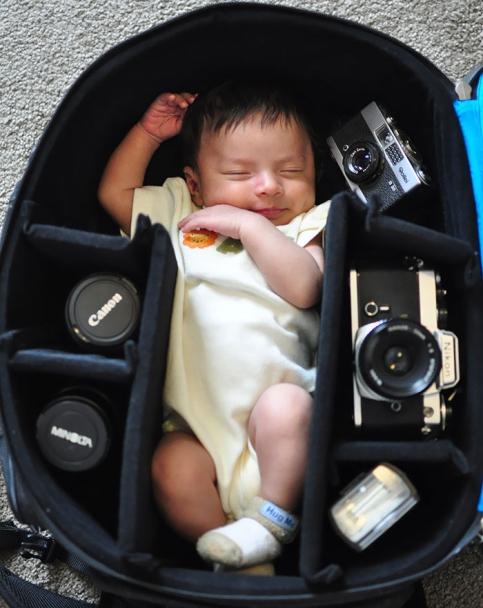 نوزاد در خواب شیرین