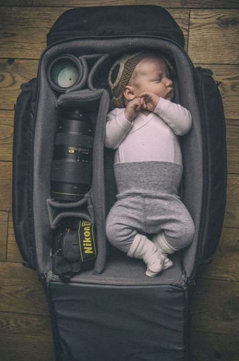خواب راحت در کیف دوربین