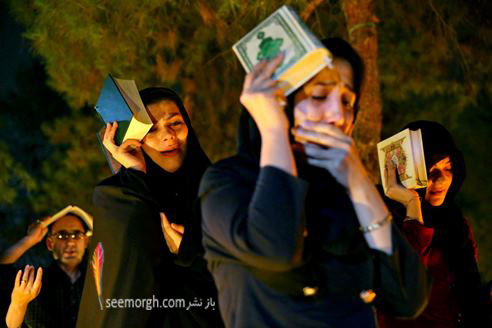 مردم ایران در مراسم شب قدر ماه مبارک رمضان