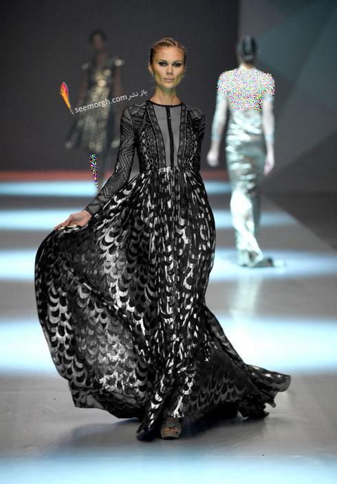 مدل لباس شماره 12 از کلکسیون بهاره - تابستانی 2015 دانی تابت Dany Tabet