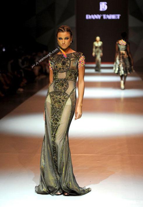 مدل لباس شماره 14 از کلکسیون بهاره - تابستانی 2015 دانی تابت Dany Tabet