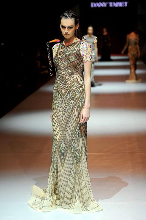 مدل لباس شماره 2 از کلکسیون بهاره - تابستانی 2015 دانی تابت Dany Tabet