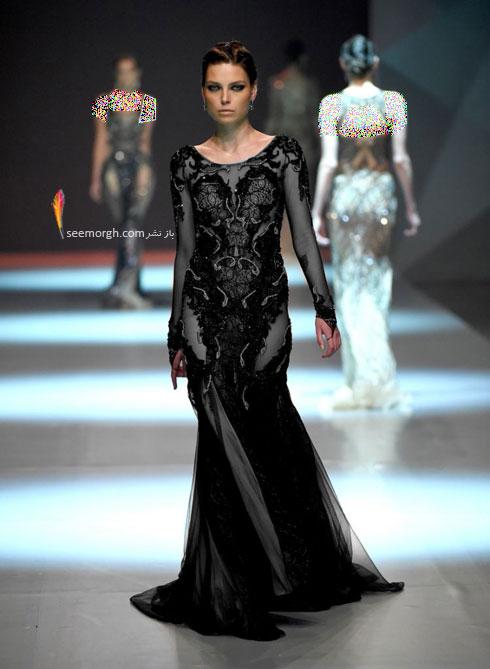 مدل لباس شماره 4 از کلکسیون بهاره - تابستانی 2015 دانی تابت Dany Tabet