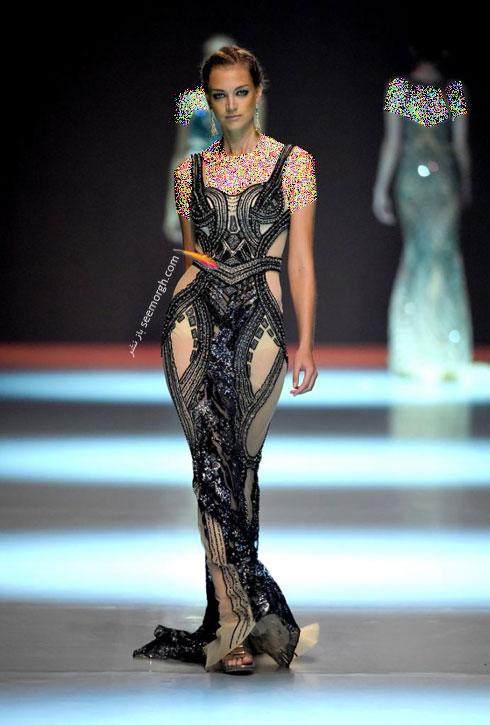 مدل لباس شماره 5 از کلکسیون بهاره - تابستانی 2015 دانی تابت Dany Tabet