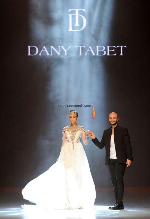 مدل لباس شماره 11 از کلکسیون بهاره - تابستانی 2015 دانی تابت Dany Tabet
