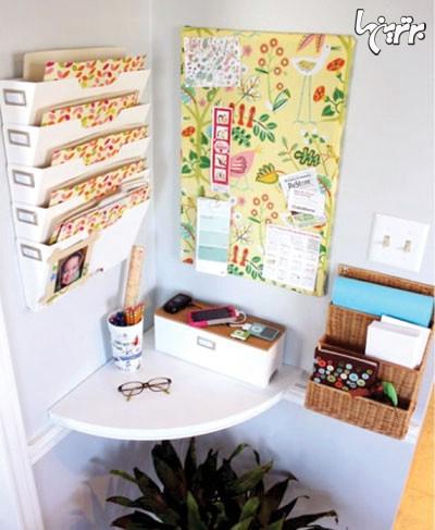 طبقه هایی در گوشه خانه تان برای جمع کردن خرده ریزه های تان درست کنید