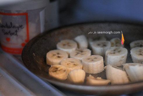 مرحله سوم درست کردن بستنی رژیمی با موز