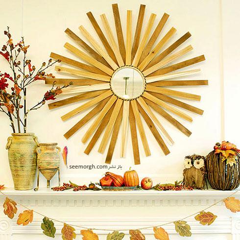 طاقچه اتاق تان را مانند یک باغ پاییزی، زیبا کنید