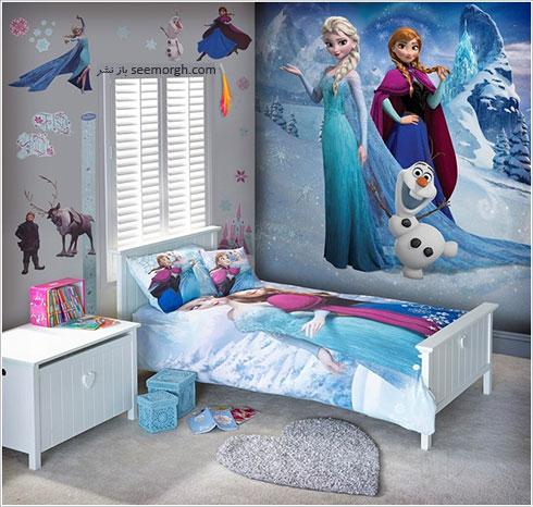 دکوراسیون اتاق کودک با الهام از پرنسس یخی Frozen