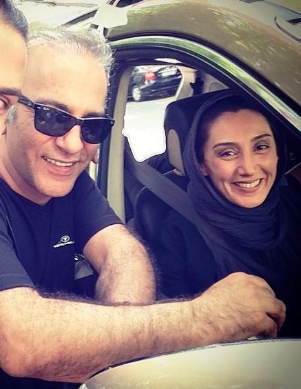 هدیه تهرانی در پشت صحنه فیلم عادت نمی کنیم