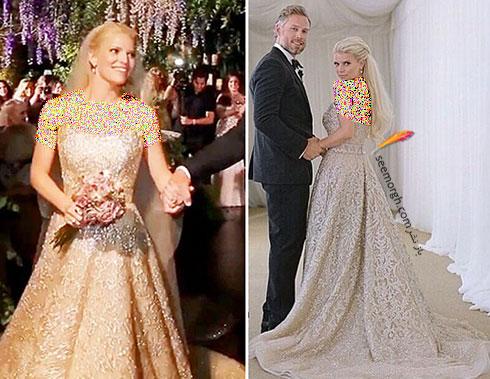 لباس عروس جسیکا سیمپسون Jessica Simpson,8 لباس عروس برتر ستارگان هالیوودی در دنیای مد