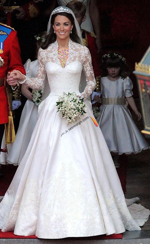 لباس عروس کیت میدلتون Kate Middleton,8 لباس عروس برتر ستارگان هالیوودی در دنیای مد