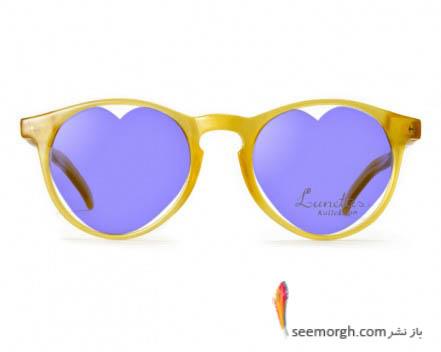 عینک با شیشه های قلبی