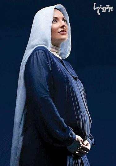 بارداری مهناز افشار با لباس مسوم و رایج بارداری