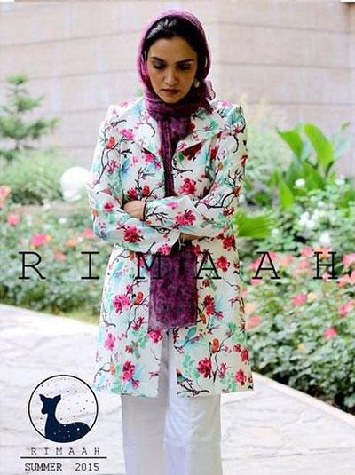 میترا حجار مدل مانتوهای برند ریماه Rimaah
