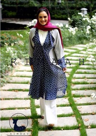 میترا حجار مدل مانتوهای بهاری برند ریماه Rimaah