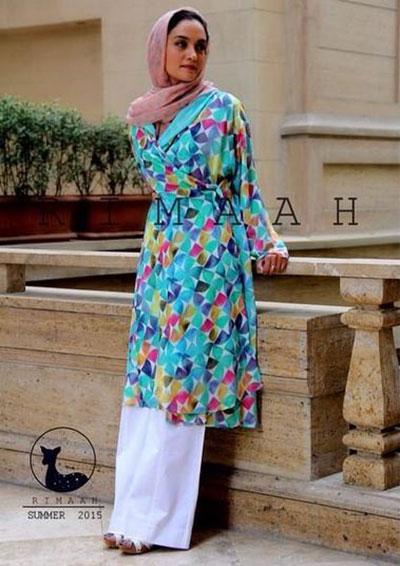 میترا حجار مدل مانتوهای تابستانی برند ریماه Rimaah