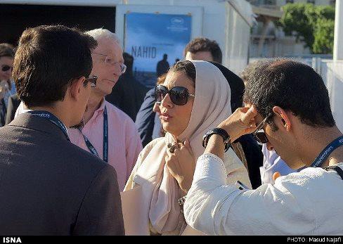 """ساره بیات در مهمانی فیلم """"ناهید"""" در جشنواره کن 2015"""