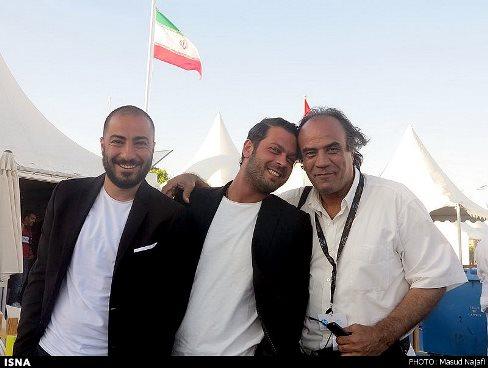 """نوید محمدزاهد و پژمان در مهمانی فیلم """"ناهید"""" در جشنواره کن 2015"""