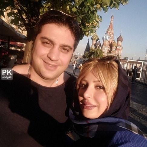 نیوشا ضیغمی و همسرش در حاشیه جشنواره مسکو