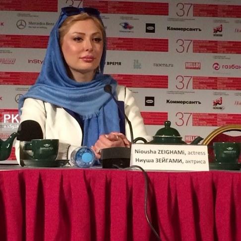 نیوشا ضیغمی در نشست مطبوعاتی جشنواره فیلم مسکو