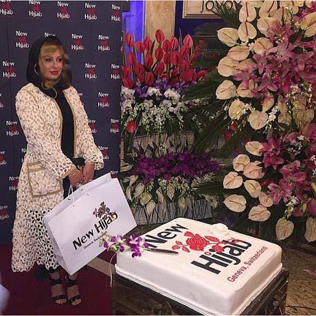 نیوشا ضیغمی افتتاحیه برند نیو حجاب در تهران