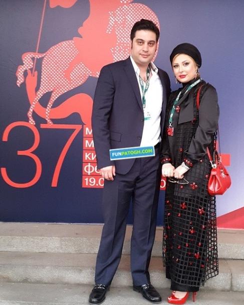 نیوشا ضیغمی و همسرش (آرش پولادخان) در فستیوال فیلم مسکو