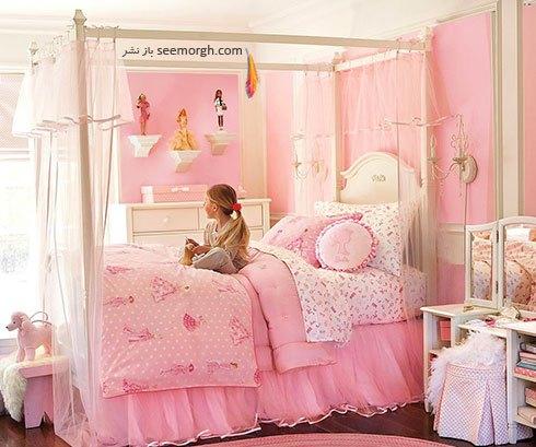 دکوراسیون اتاق خواب دخترانه به شکل پرنسس های قصه ها