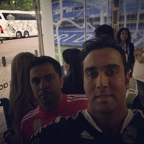 لحظه ورود اتوبوس رئال مادرید به ورزشگاه