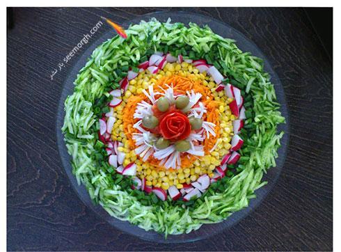 تزیین سالاد سبزیجات مدل 2