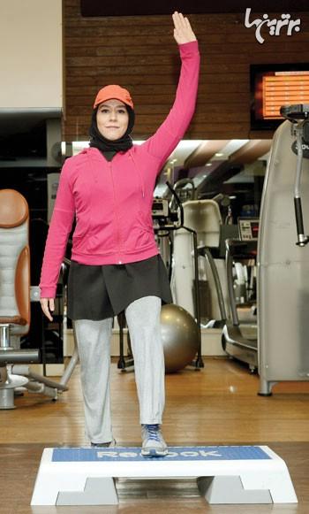شكم مورب با استپ برای عضلات پشت، مورب شكمی و ران 1