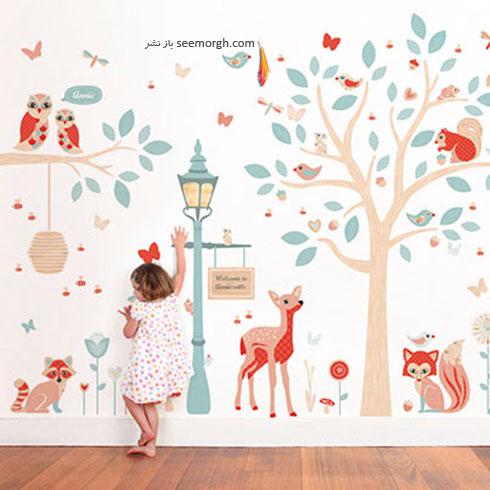 استیکرهایی با طرح طبیعت برای اتاق کودک
