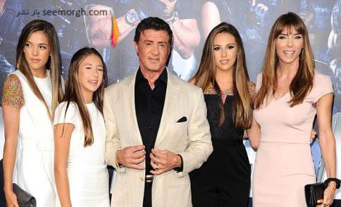 سیلوستر استالونه و همسر و دخترانش