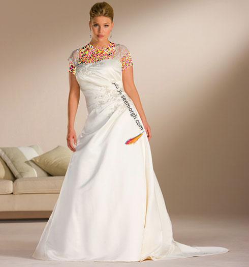 زیباترین مدلهای لباس عروس برای دخترخانم های سایز بزرگ