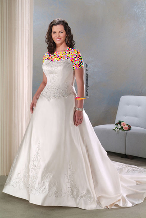 بهترین مدل لباس عروس برای خانمهای سایز بزرگ از سایت JDbridal