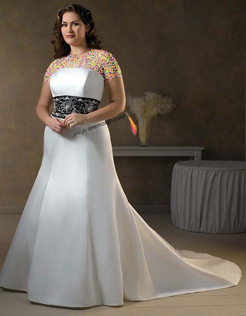 مدل لباس عروس برای دختر خانمهای سایز بزرگ از سایت JDbridal