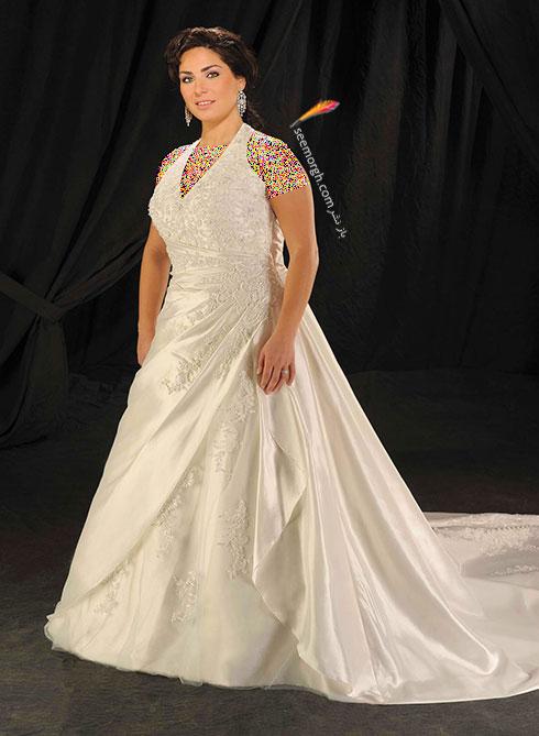 مدلهای لباس عروس برای عروس خانم های سایز بزرگ