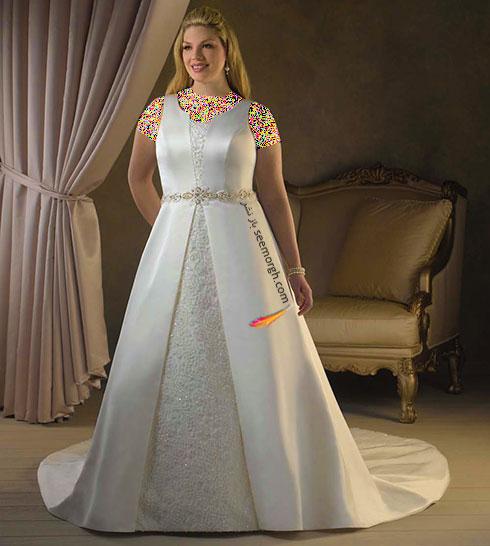 بهترین مدل لباس برای عروس های سایز بزرگ