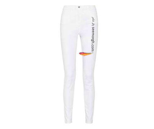 پوشیدن شلوار جین سفید یخی به سبک چنیفر لوپز Jenifer Lopez برای تابستان
