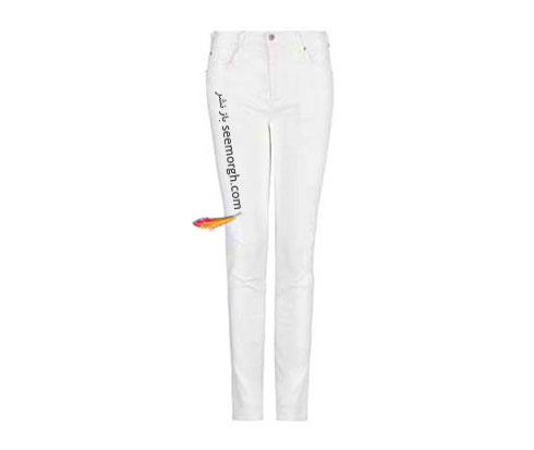شلوار جین سفید راسته برای تابستان