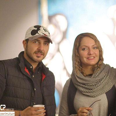 مهناز افشار و محمدرضا غفاری در گالری نقاشی -3