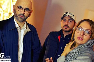 مهناز افشار، محمدرضا غفاری و حبیب رضایی در گالری نقاشی -9