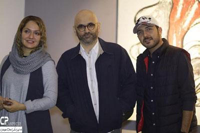 مهناز افشار، محمدرضا غفاری و حبیب رضایی در گالری نقاشی -10