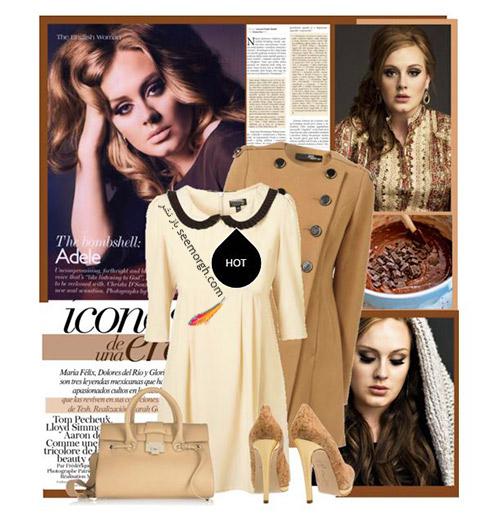 ست کردن لباس پاییزی به سبک ادل Adele