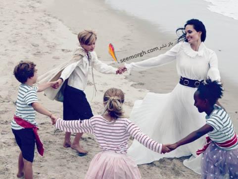 بازی آنجلینا جولی و فرزندانش
