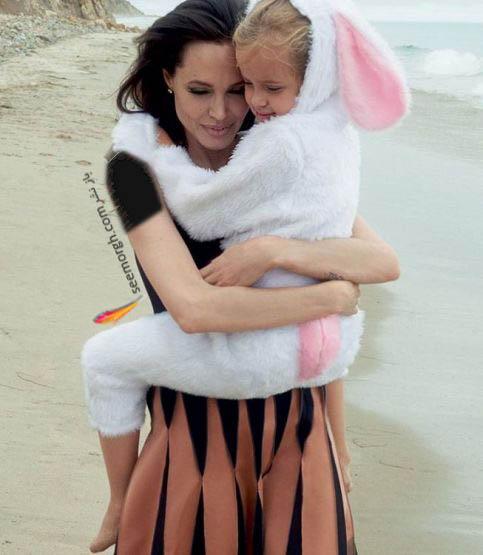 فرزند آنجلینا جولی در آغوشش